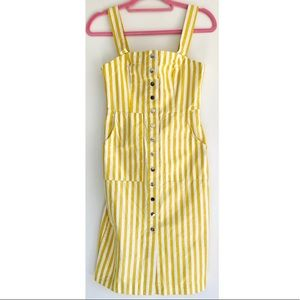 *NWT* F21 Contemporary | Yellow Button Down Dress